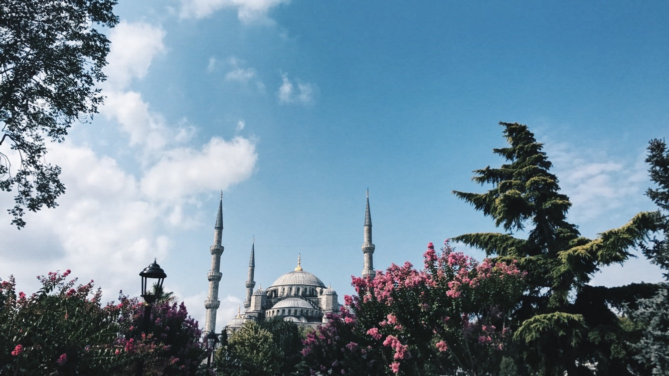 The Blue mosque in Istanbul, a photo by muslim Nisa Hilal from Peonycrescent